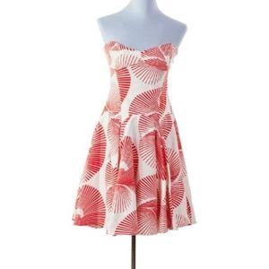 Diane Von Furstenberg Orange Cream Fan Anita Dress